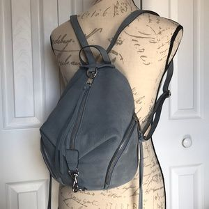 Rebecca Minkoff Medium Julian Backpack Dusty Blue